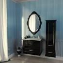 Комплект мебели для ванной Edelform Mero черный