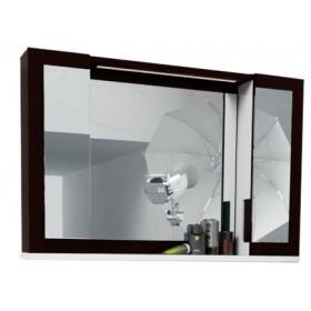 Зеркало в ванную со шкафчиком Edelform Quadro 90