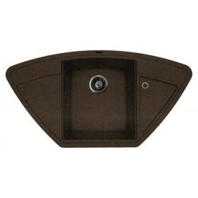 Мойка для кухни угловая Florentina Липси 980С коричневая
