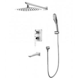 Смеситель встроенный для ванной с душем Lemark Melange (LM4922CW)