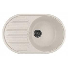 Мойка для кухни овальная Mixline ML-GM16 белая