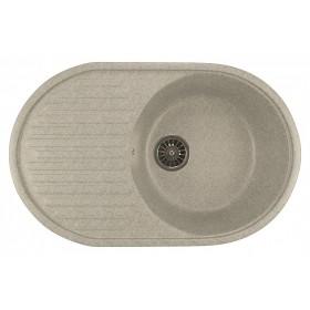 Мойка для кухни овальная Mixline ML-GM16 серая