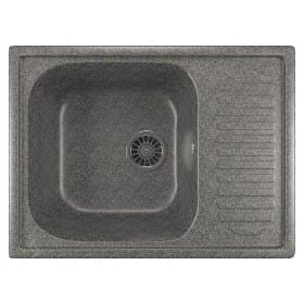 Мойка для кухни с крылом Mixline ML-GM18 темно-серая