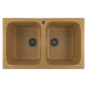 Кухонная мойка с двумя чашами Mixline ML-GM23 песочная