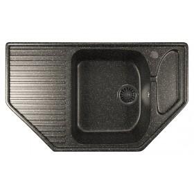Мойка угловая для кухни Mixline ML-GM24 черная