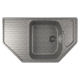 Мойка угловая для кухни Mixline ML-GM24 темно-серая