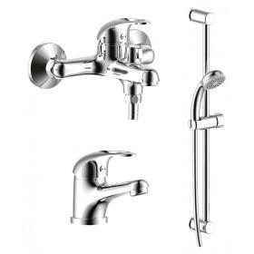 Набор смесителей для ванной и умывальника Rossinka SET 35-80