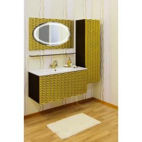 Комплект мебели для ванной Sanflor Белла 100 шоколад, патина золото