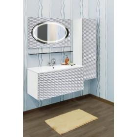 Комплект мебели для ванной Sanflor Белла 100 белый, патина серебро
