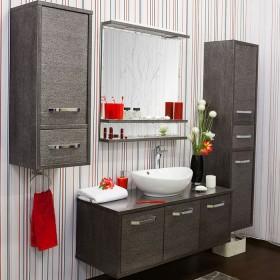Комплект мебели для ванной Sanflor Румба 120 венге, патина серебро