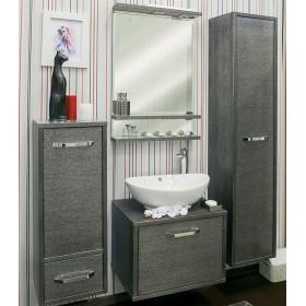 Комплект мебели для ванной Sanflor Румба 60 венге, патина серебро