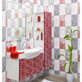 Комплект мебели для ванной Sanflor Санфлор 100 красный, патина белая