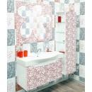 Комплект мебели для ванной Sanflor Санфлор белый, патина красная