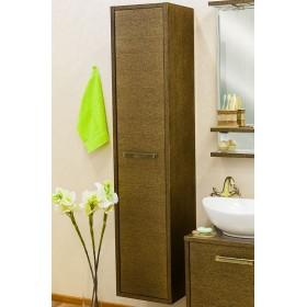 Шкаф пенал в ванную Sanflor Румба венге, патина золото