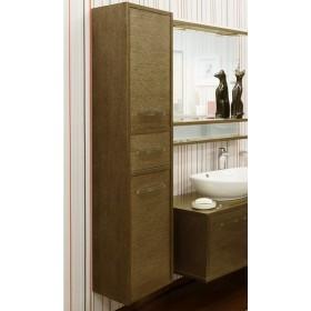 Шкаф пенал для ванной Sanflor Румба 3 венге, патина золото
