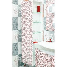 Шкаф пенал для ванной Sanflor Санфлор белый, патина красная