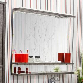 Зеркало в ванную Sanflor Румба 120 венге, патина серебро