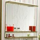Зеркало в ванную Sanflor Румба 120 венге, патина золото