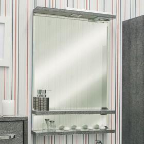 Зеркало в ванную Sanflor Румба 60 венге, патина серебро