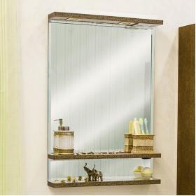 Зеркало в ванную Sanflor Румба 60 венге, патина золото