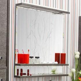 Зеркало в ванную Sanflor Румба 82 венге, патина серебро