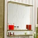Зеркало в ванную Sanflor Румба 82 венге, патина золото